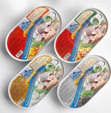 Conserve de peste File de hering 170g - in sosuri diverse de la Lorami Impex Srl