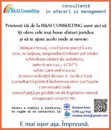 Servicii infiintare firma Timisoara de la R&AI Consulting
