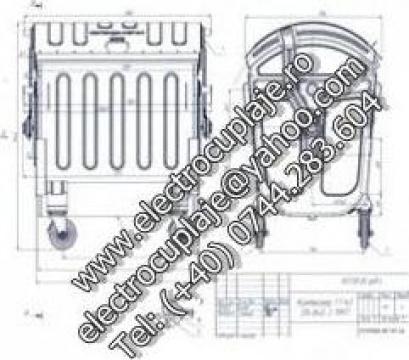 Container metalic volum de 1100 litri, 1,1 m3 de la Electrotools