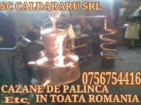 Cazan tuica 250 litri din cupru de la Sc Cazarom Srl