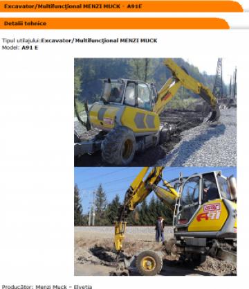 Excavator / multifunctional Menzi Muck
