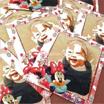 Marturie botez Magneti personalizati Minnie Mouse de la Simonne