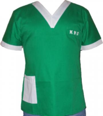Bluza de lucru verde cu maneca scurta de la Johnny Srl.