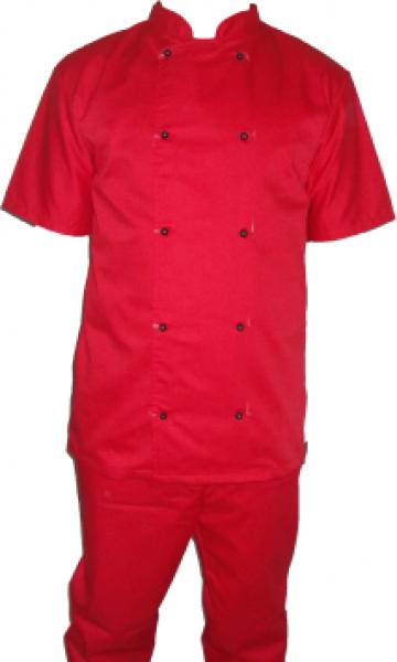 Costum de bucatar rosu de la Johnny Srl.
