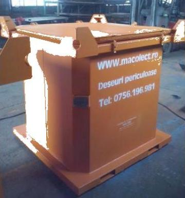 Container 1,1mc deseuri periculoase de la Edmarom Prod 2007 Srl