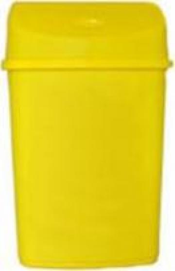 Cos gunoi din plastic cu capac batant 55L de la Fw Support Srl