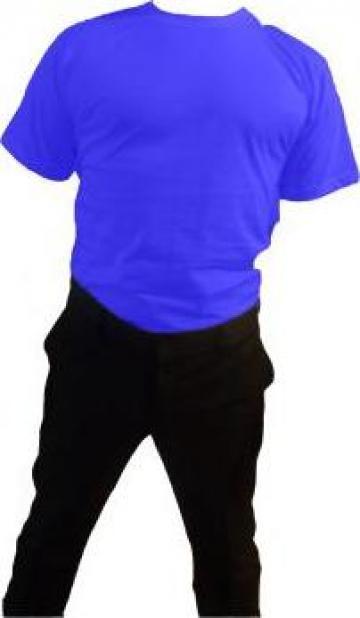 Tricou albastru 100% bumbac maneca scurta de la Johnny Srl.