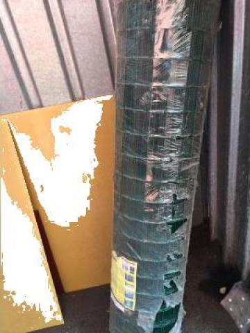 Plasa gard plastifiata 25m 50x1.5 de la Baza Tehnica Alfa Srl