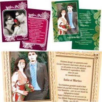 Invitatii de nunta si botez personalizate de la Cadouri Dragi