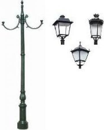 Stalp iluminat ornamental clasic fonta PLGFO14 de la Palagio System Group