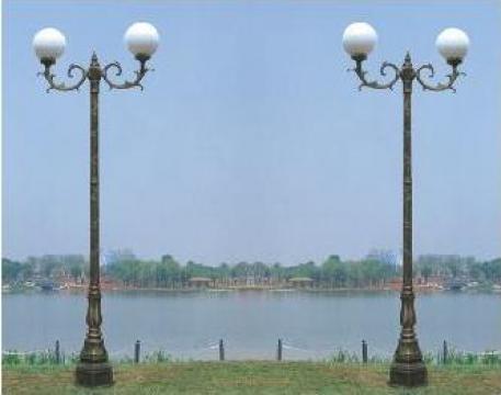 Stalp iluminat ornamental din aluminiu PLGSA21 de la Palagio System Group