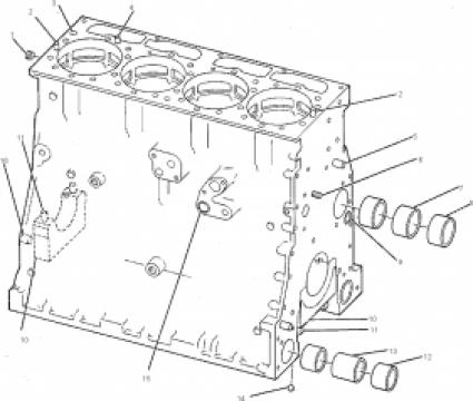 Bloc motor utilaj Caterpillar Cat 1N3574 de la Grup Utilaje Srl
