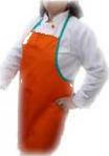 Sort de bucatarie cu pieptar portocaliu de la Johnny Srl.