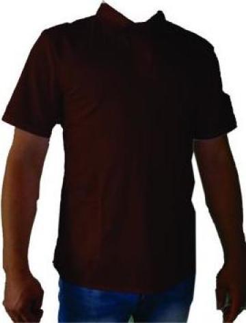 Uniforma cu tricou polo maro