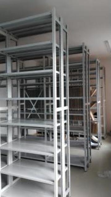 Rafturi metalice cu polite 600*1200*2500H-5NIV de la Racks Metal Srl