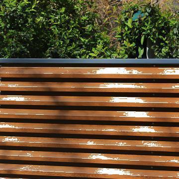 Garduri metalice imitatie de lemn de stejar de la Pannelli Top Construct