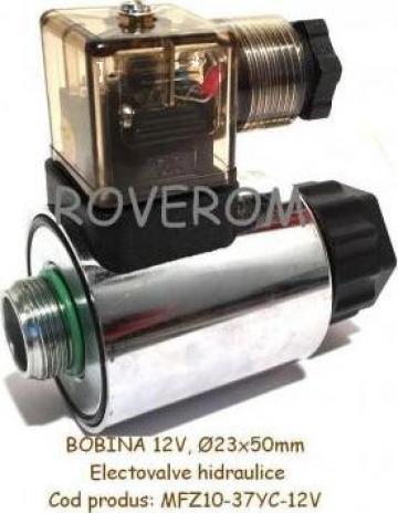 Bobina 12V, D23x50mm electrovalva hidraulica de la Roverom Srl