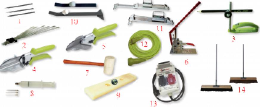 Instrumente si accesorii pentru montat pardoseli