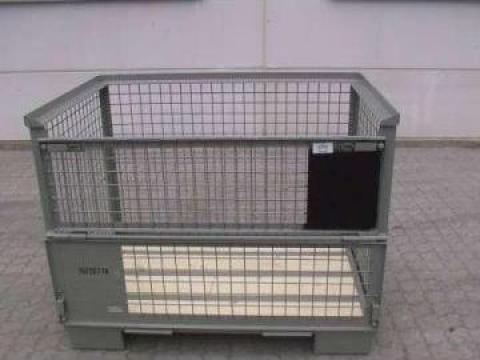 Boxpaleti metalici EUR 1200 x 800 x 980 mm