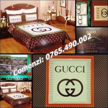 Set lenjerie pat dublu 6 piese Gucci home de la Cieaura