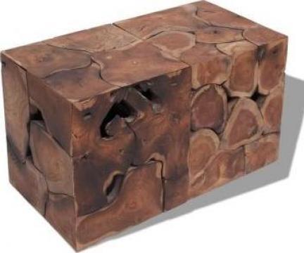Taburete / masuta de cafea din lemn de tec masiv