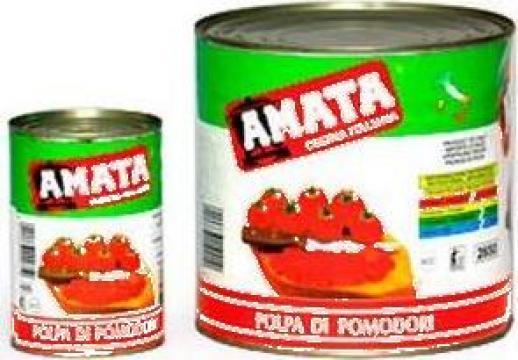 Conserva pulpa de rosii Amata de la S.c. Italin Gross Impex S.r.l.