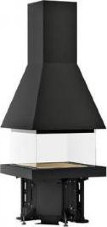 Focar cu 3-4 laturi Piazzetta M 360 Q Aquare Hood de la Seminee Mures