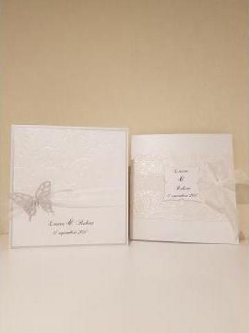 Invitatii nunta botez unicat handmade de la Christine Style Events