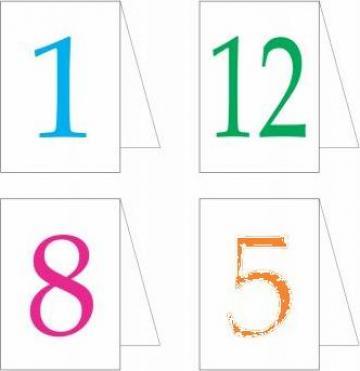 Carduri numere pentru mese botez de la Best Media Style Srl