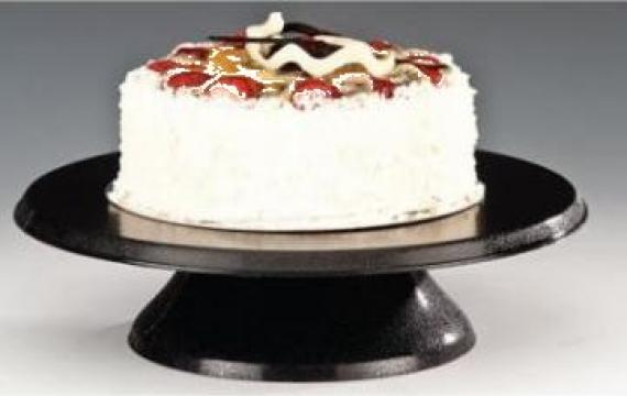 Stand rotativ ornare si prezentare tort negru 30cm