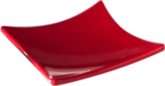Farfurie melamina patrata Raki 8x8x1cm rosie de la Basarom Com