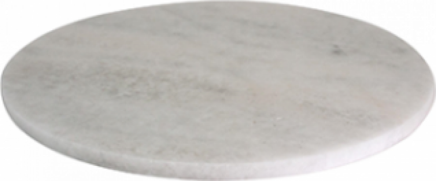 Platou servire marmura rotund 30xh1cm de la Basarom Com