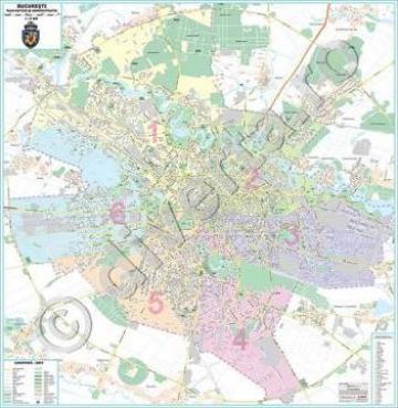 Harta Bucuresti Scara 1 15000 Format 140 X 145 Cm Bucuresti