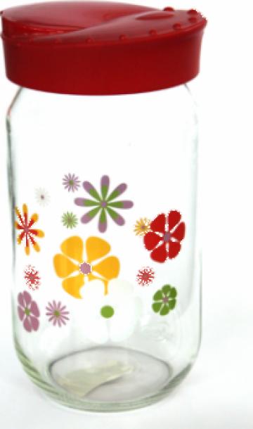 Borcan cu flori 1 litru de la Basarom Com