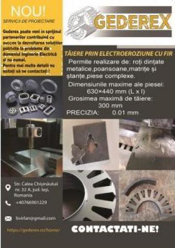 Debitari electroeroziune cu fir si plasma CNC de la Gederex - Gen Motor Srl