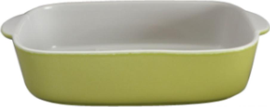 Tava ceramica Cerutil 34x22x6cm verde de la Basarom Com