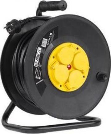 Prelungitor tambur 4 prize-lungime 50m IP44 Kemot de la Electro Supermax Srl