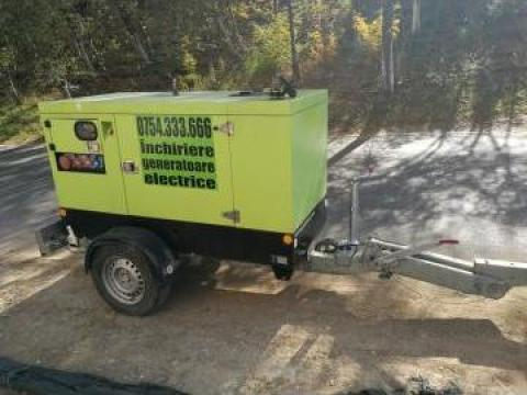 Inchiriere generator (grup electrogen) 42KVA (putere 33Kw) de la 123kva Romania