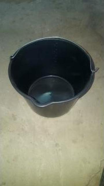 Galeata mortar 12 litri cu maner metalic de la Quatro Prod Plast