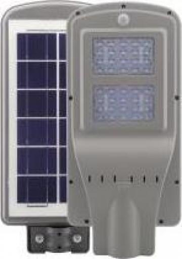 Lampa stradala LED 40W cu panou solar si senzor de miscare de la Pfa Stuparu Persida Rodica