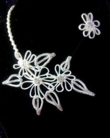 Set bijuterii handmade pentru mirese de la