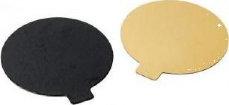Monoportie carton auriu/negru 12cm, 200 buc/set de la Cristian Food Industry Srl.