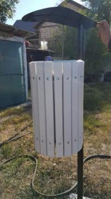 Cos de gunoi alb V555 de la Ygrocris Dorally Steel Srl