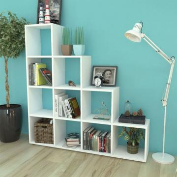 Biblioteca / etajera in trepte, 142 cm, alb de la Vidaxl