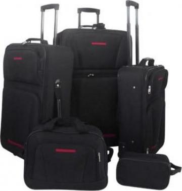 Set 5 bagaje / trollere negru de la Vidaxl