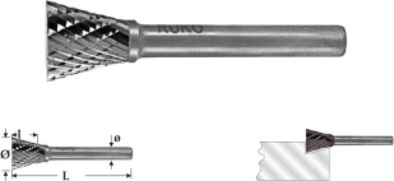 Freze biax forma N, unghi de la Electrotools