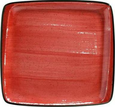 Farfurie patrata din portelan Bonna colectia Passion 15x14cm de la Basarom Com