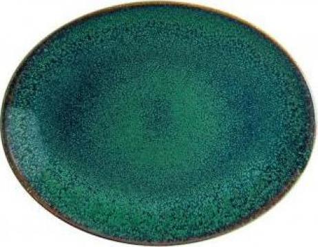 Farfurie ovala din portelan Bonna colectia Ore Mar 31x24cm de la Basarom Com