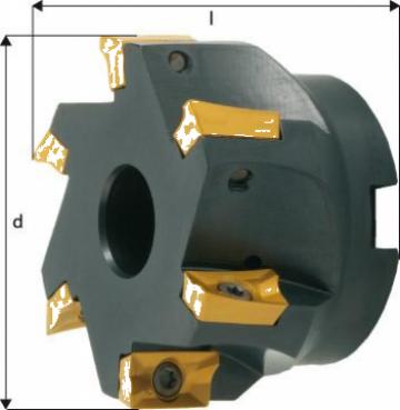 Cap de frezare 90 grade D50mm 4 taisuri pentru APKT16 de la Electrotools