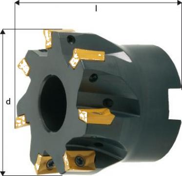 Cap de frezare 90 grade D80mm 11 taisuri APKT10 de la Electrotools